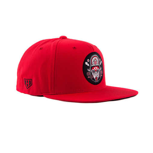 MAA KALI RED COLOUR INDIAN GODDESS SNAPBACK HAT - SHOP ONLINE IN INDIA - ( HAUL APPAREL )