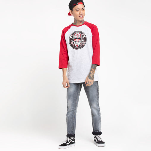 Maa Kali Red Sleeve Baseball T-Shirt Haul Apparel - Full