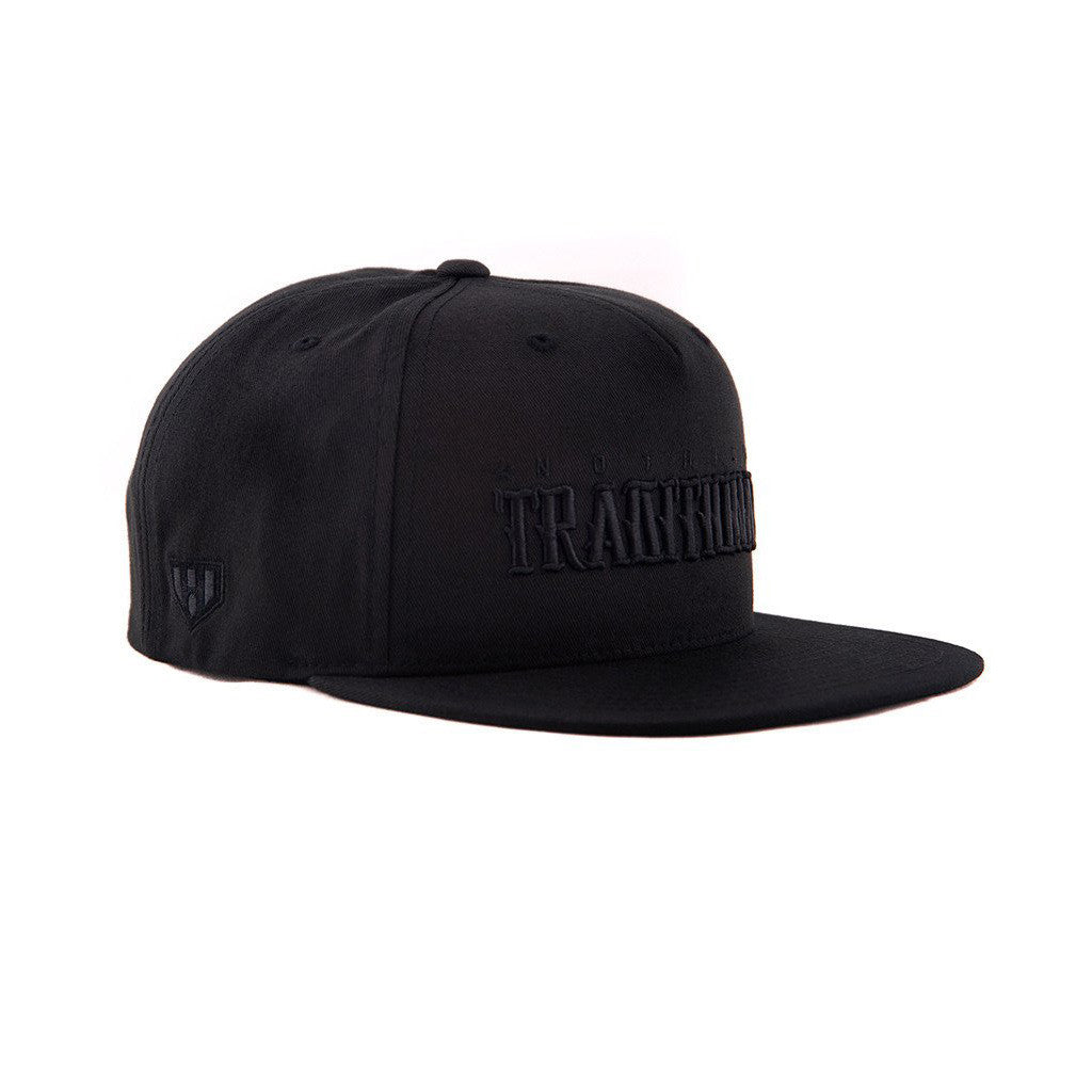 Black on Black Snapback Hat Nothing Tradtional by Haul Apparel