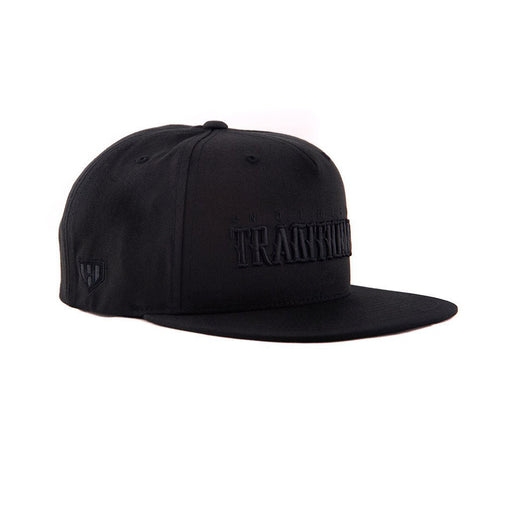 Black On Black Snapack Cap-Side- Haul Apparel