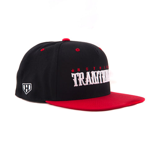 Red On Black Snapback-Side - Haul Apparel