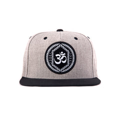 Om Grey And Black Snapback-Front- Haul Apparel