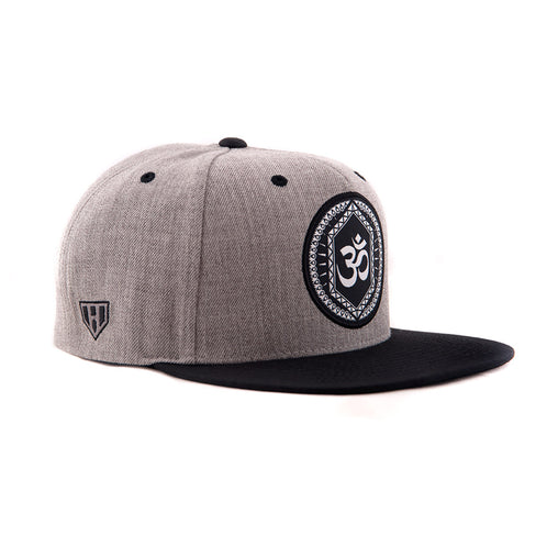Om Grey And Black Snapback-Side - Haul Apparel