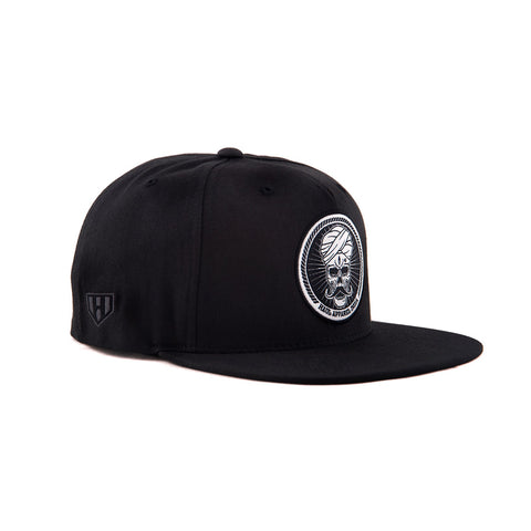 Skull Stache Woven Embroidery Colour Snapback Hat by Haul Apparel Shop online for Hats in India