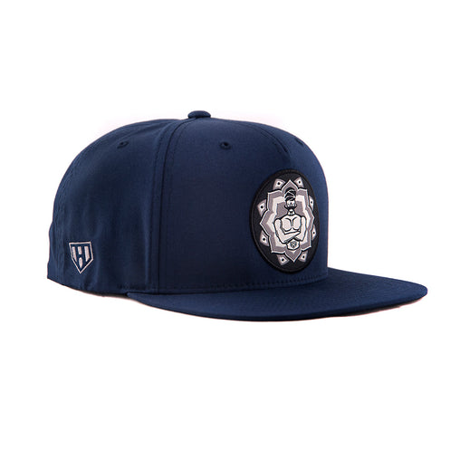 Blue Super Statche Snapback-Side - Haul Apparel