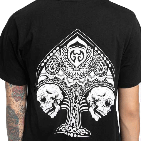 Spades Black Half Sleeve T-Shirt