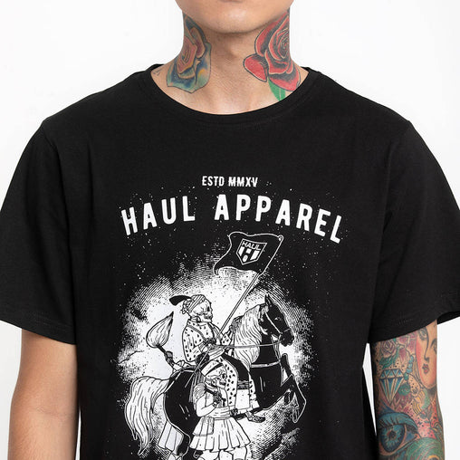 Sultan Swag Black Half Sleeve T-Shirt Haul Apparel - Detail