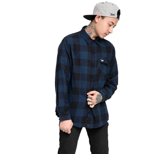 Shop Online Blue And Black flannel shirt,casual shirts for men In India - Haul Apparel