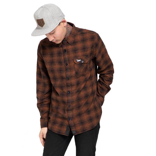 Shop Online Burnt Orange flannel shirt,casual shirts for men In India - Haul Apparel