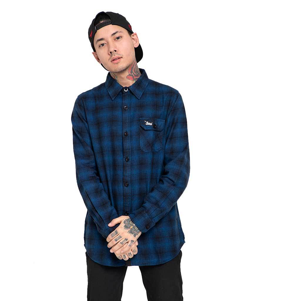 Buy Online Deep Blue Flannel Shirt Casual Shirt In India Haul Apparel