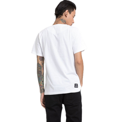 Desi Bomb White Half Sleeve T-Shirt Haul Apparel - Back