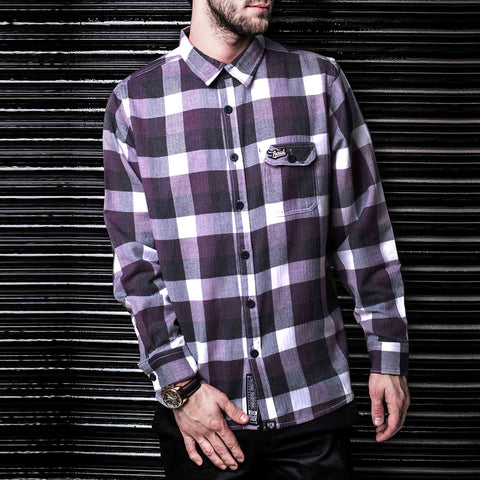 Purple White & Black Flannel Shirt by Haul Apparel Shop online for Flannel Shirt in India