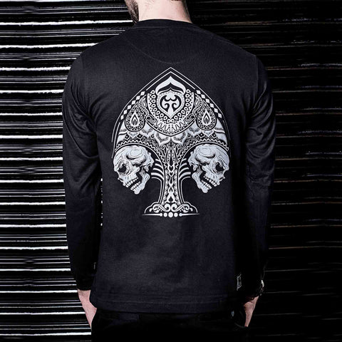 Buy Graphic Long Sleeve Tshirt in India Online Spades Graphic Tshirt ( Haul Apparel )