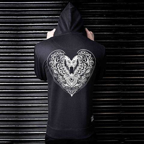 Buy Hearts Black Hoodie in India by Haul Apparel
