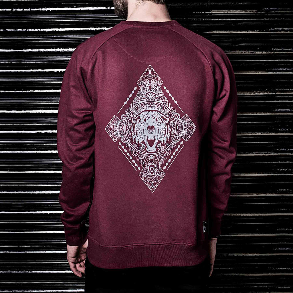Diamonds Printed Maroon Sweater Shop Online at Haul Apparel India