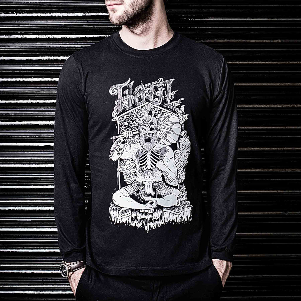 Shop Online For Black Vanara Graphic Printed Long Sleeve Tshirt By Haul Apparel