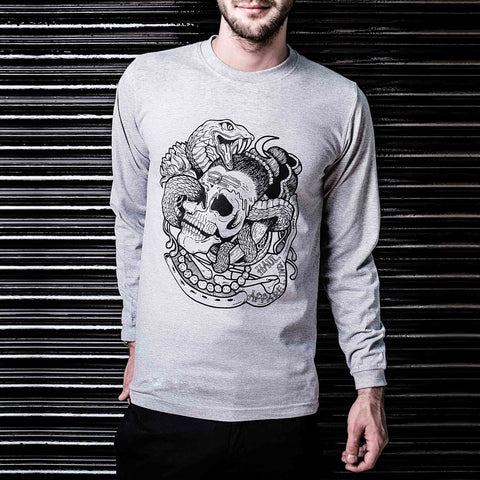 Buy Online Graphic Shiva Vasuki Long Sleeve Tshirt in India ( Haul Apparel )