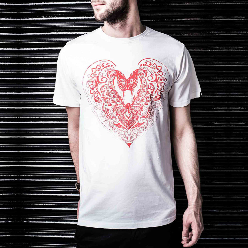 Hearts T-Shirt (White) - Haul Apparel India