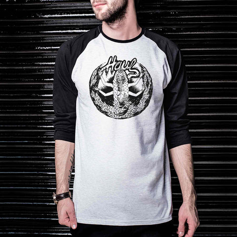 Buy Unisex Tshirts Online in India Maha Tantra Graphic Baseball Tee ( Haul Apparel )