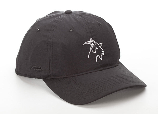 Black Lightweight Polyester SPF 50 Hat With GOAT Logo