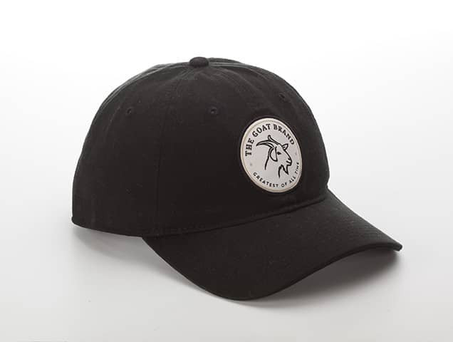 Black Cotton With Circle GOAT Emblem