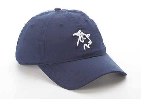 Blue Lightweight Polyester SPF 50 Hat with Goat Logo