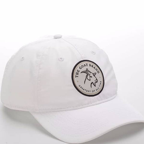 White Cotton With Circle GOAT Emblem
