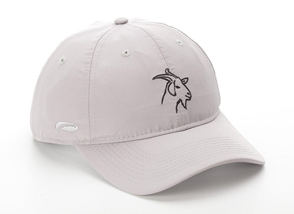 Gray  Lightweight Polyester SPF 50 Hat With GOAT Logo