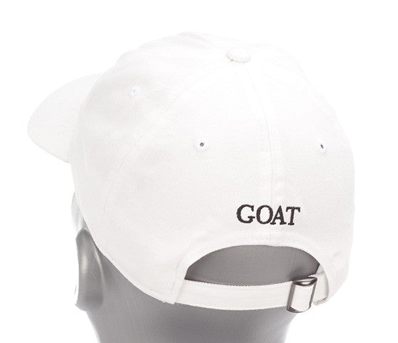 White Lightweight Polyester SPF 50 with GOAT Logo