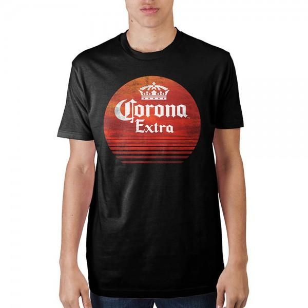 Corona Extra Red Circle Mens Black T-Shirt