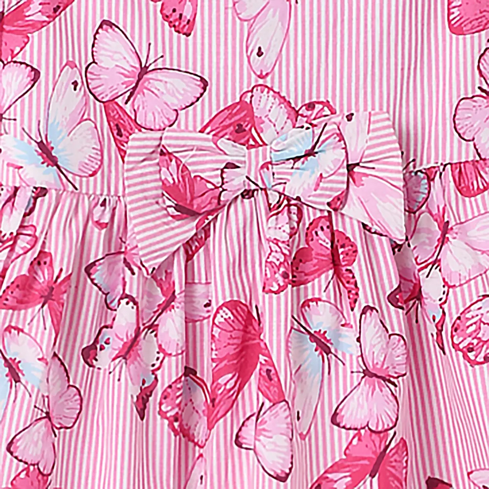 Baby Girl ' Summer Love' Pink Butterfly Printed Dress