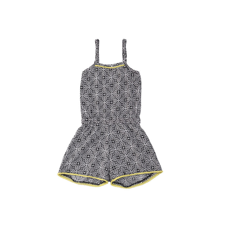 Girls 'Geometric'  Printed Jumpsuit