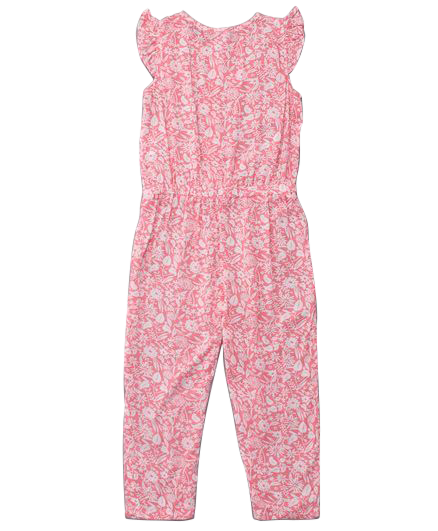 Toddler Girl 'Cutie Pie' Viscose Jumpsuit