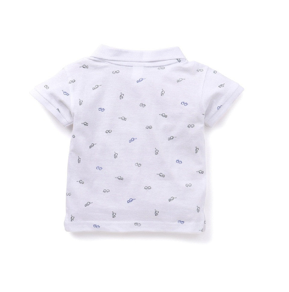 Toddler Boy 'Spectacled' Polo T-shirt