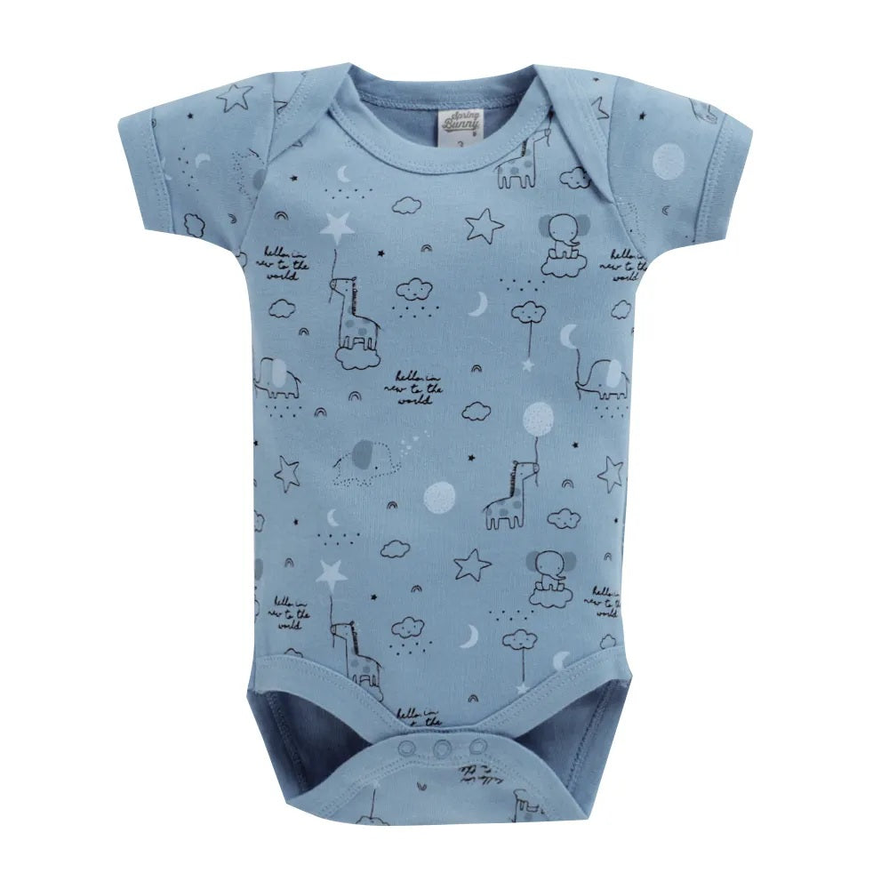 Baby Boy ' Melody ' Multi color Onesis Set of 3