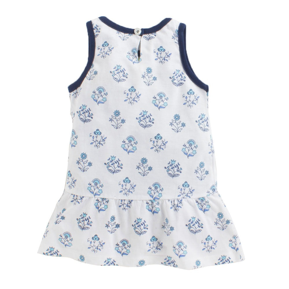 Toddler Girl 'Azure' Printed Dress