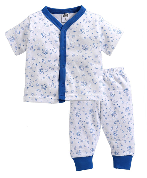 Baby Boy ' Bear ' Blue Pyjama Set