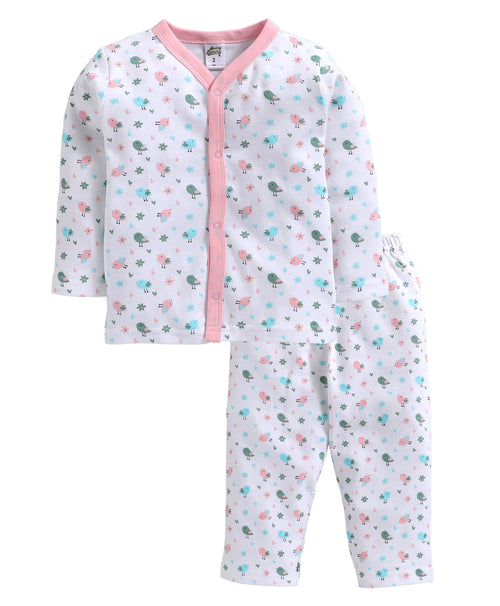 Toddler Girl ' Birds ' Pink Pyjama Set