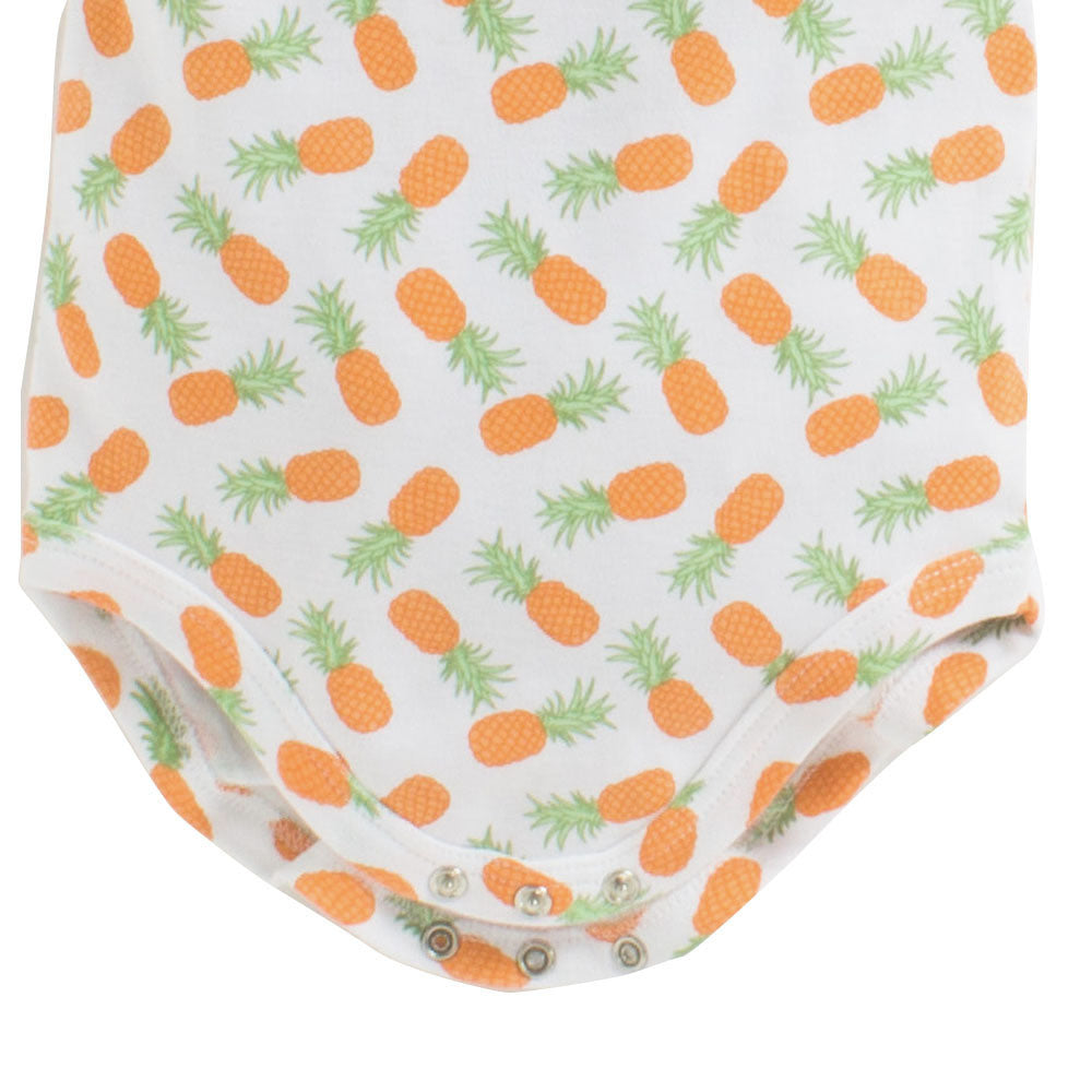 Baby Girl 'Pineapple' Sleeveless Onesis