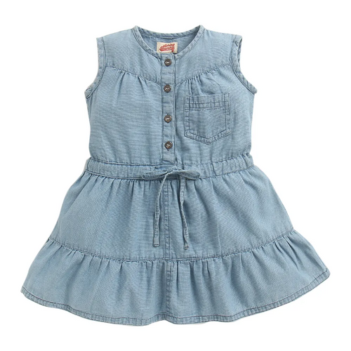 Toddler Girl 'Country Road' Denim Dress