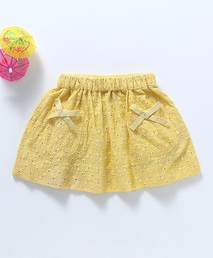 Toddler Girl 'Daisy Dew' Yellow Skirt