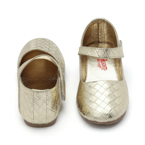 Toddler Girl 'Diamante' Golden Mary Jane Shoes