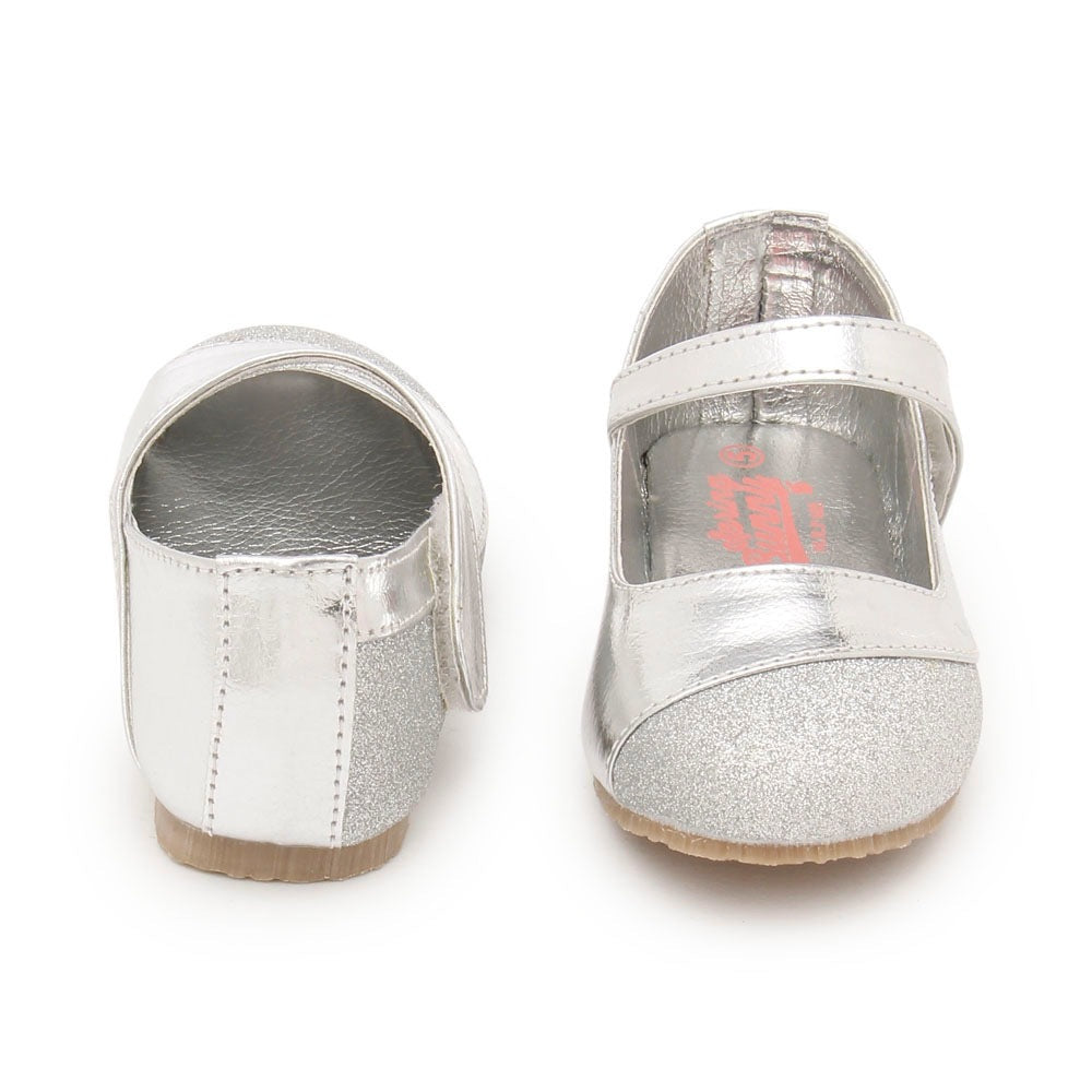 Toddler Girl 'Donna' Silver Mary Jane Shoes