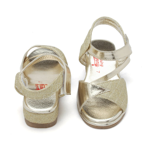 Toddler Girl 'Diva' Gold Sandal Shoes