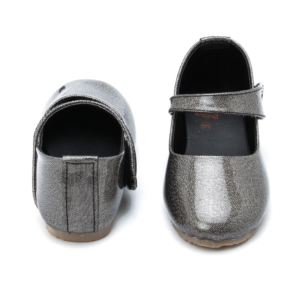Toddler Girl 'Shine On' Midnight Gray Mary Jane Shoes