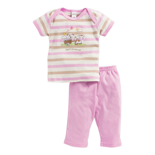 Baby Girl 'Farm Friends' Pyjama Set