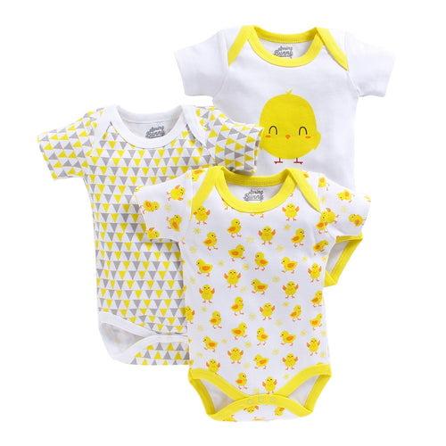Baby Girl 'Chic' Onesie Set of 3