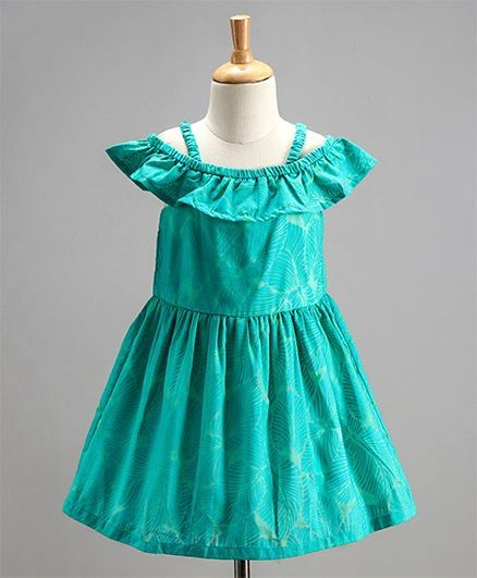 Toddler Girl 'Fern' Green Dress