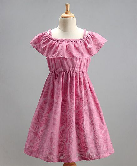 Girls 'Fern' Pink Dress