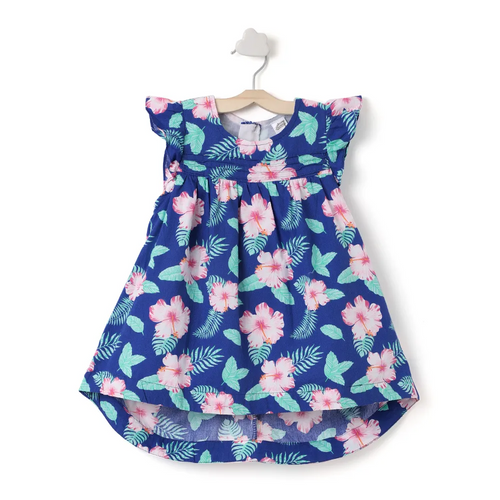 Baby Girl ' FullBloom ' Blue Printed Dress